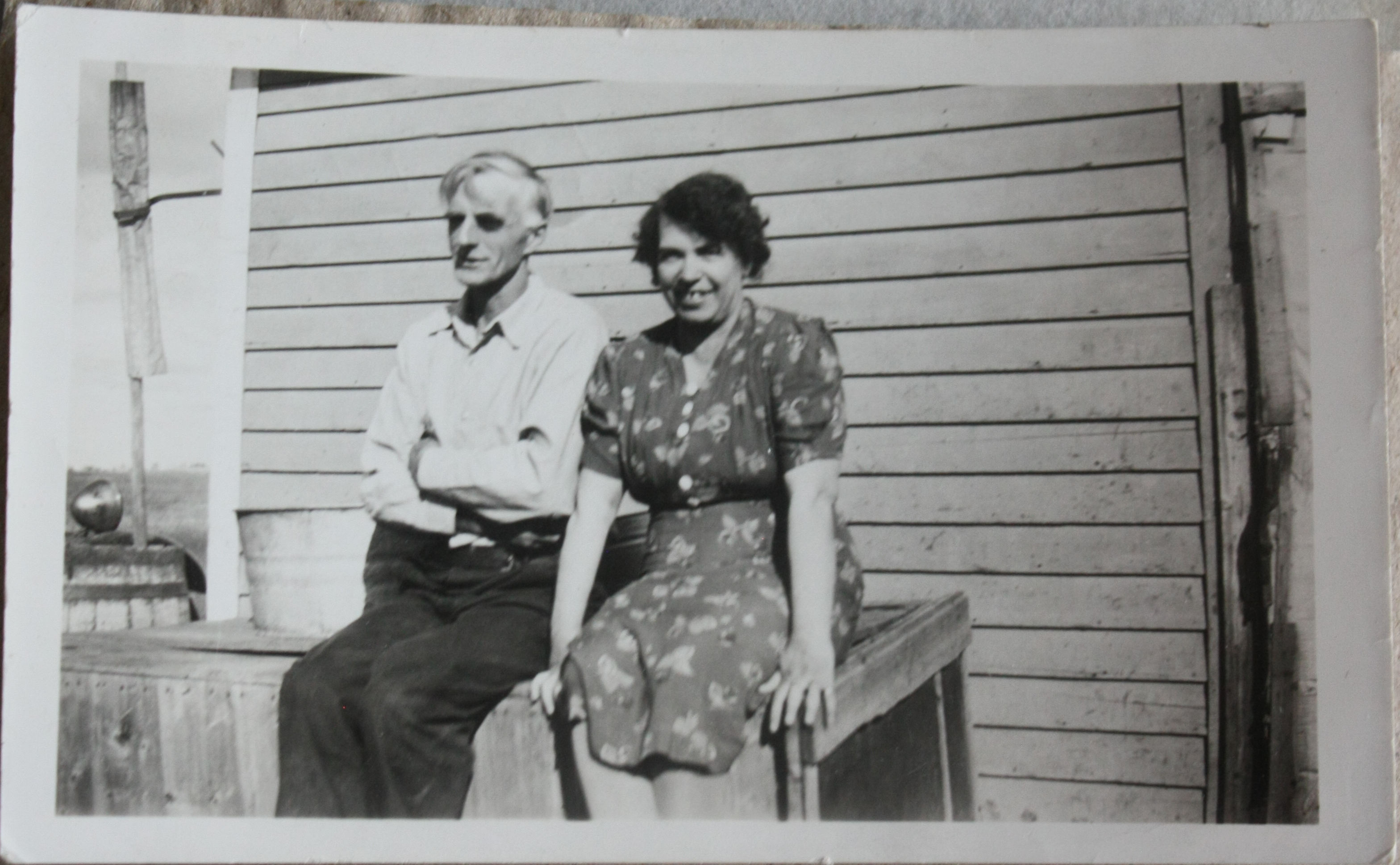 """George & Sarah Whiteside (1940)"" George John Bunbury, and his wife Sarah (nee Whiteside) Linked To: <a href="
